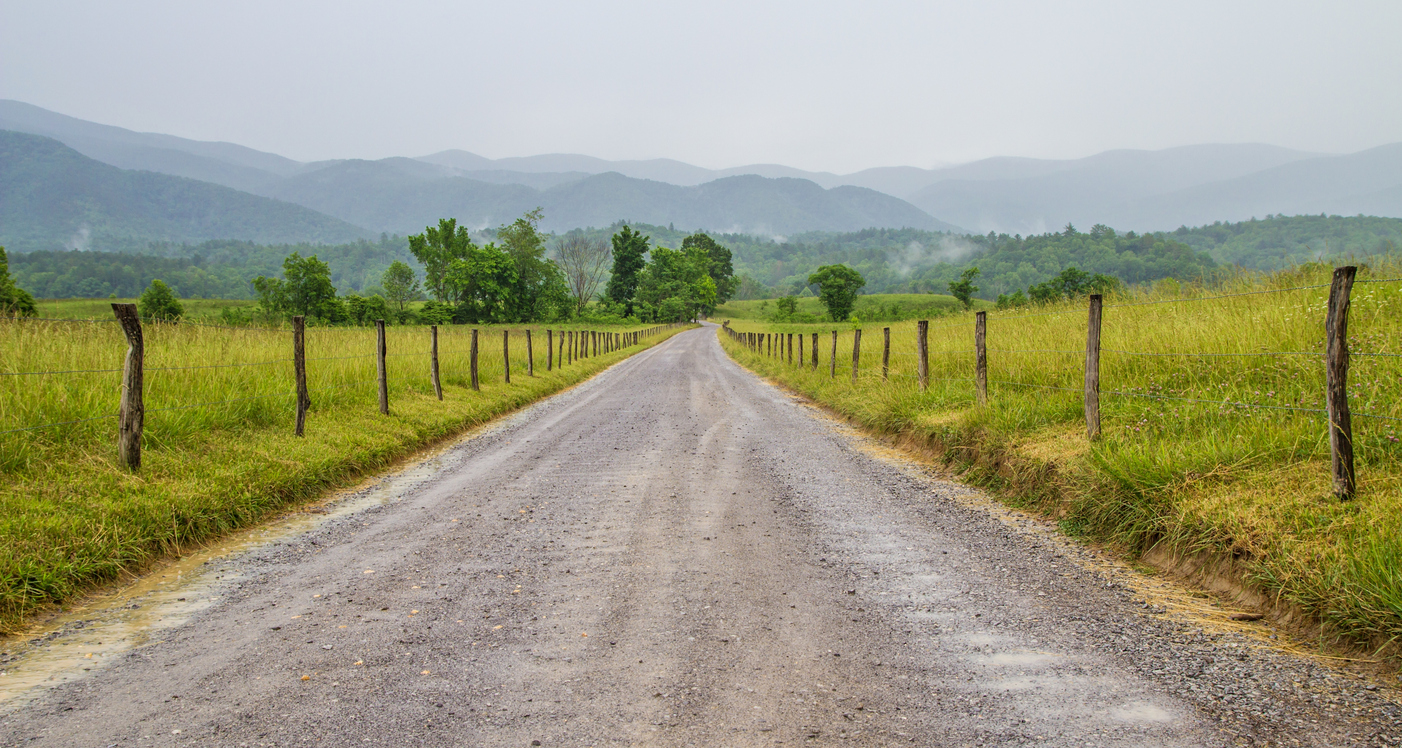 Country Road Cades Cove Great Smoky Mountains National Park